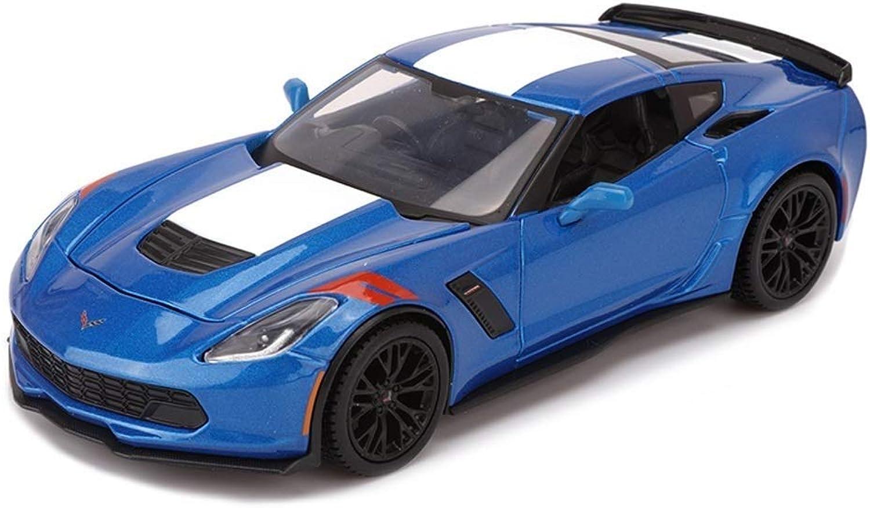 artículos novedosos KaKaDz Wei KKD Escala Modelo Simulación Vehículo Simulación Exquisito Dinings Dinings Dinings & Juguete Vehicles 2017 Chevrolet Corvette Styling 1 24 Alloy Diecast Model For Kids  diseñador en linea