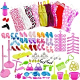 ZOYLINK Doll Accessories Set Decorative Funny Miniature Fashion Interactive Cute Doll Shoes Set Doll Supplies Kit