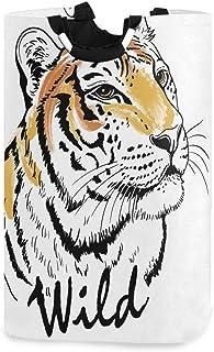 CaTaKu Panier à linge en forme d'animal tigre Abstarct - Grande boîte de rangement - Étanche - Facile à transporter - Pour...
