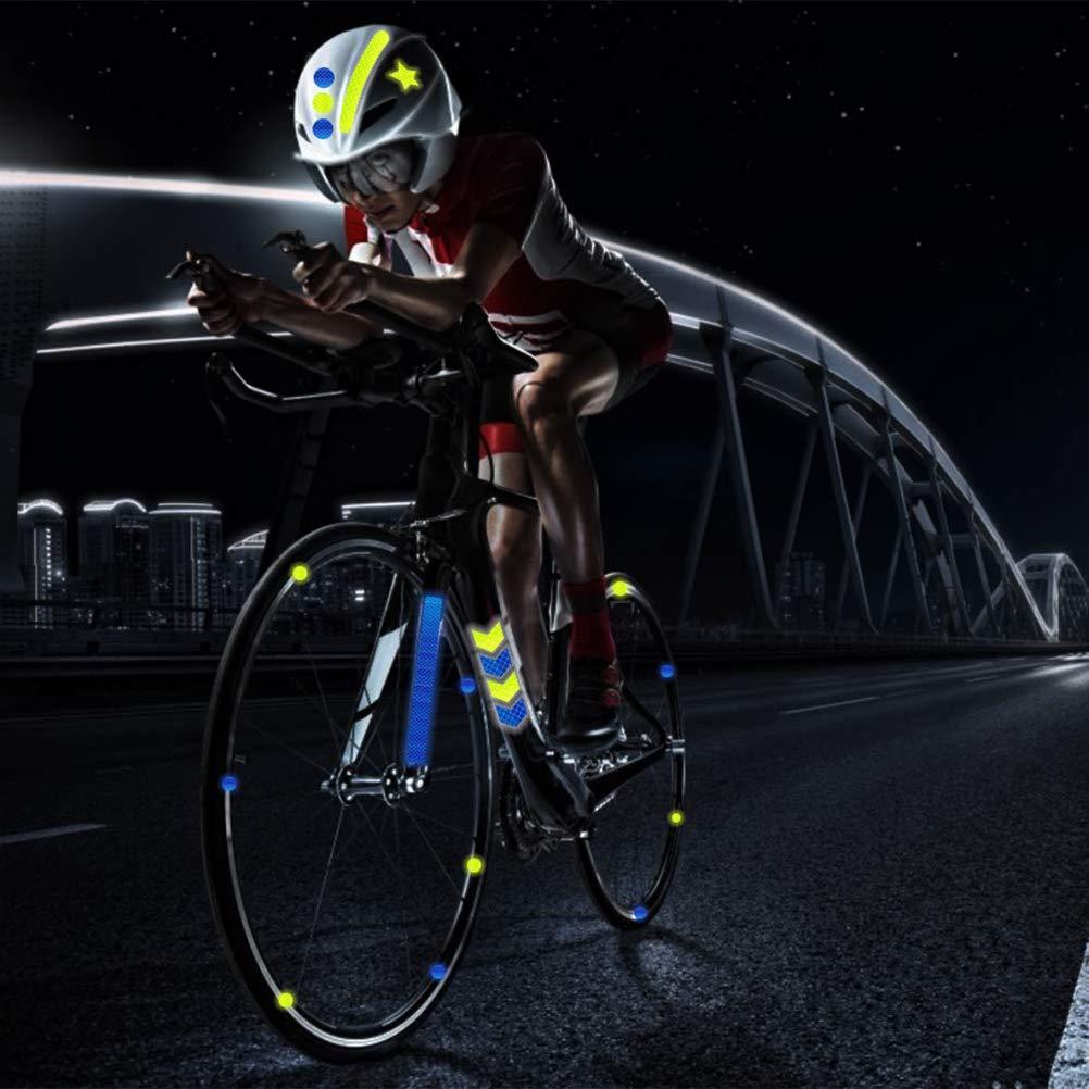 Suszian Pegatinas Reflectantes para Bicicleta, 42 Piezas Pegatinas Reflectantes para Bicicleta Motocicleta Bicicleta Reflector Ciclismo Advertencia Reflector Ciclismo Calcomanía Cinta: Amazon.es: Deportes y aire libre