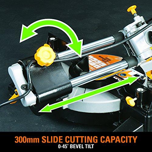 Evolution Power Tools RAGE3-S300 Multi-Purpose Sliding Mitre Saw with 300mm Slide Capacity, 210 mm (110V)