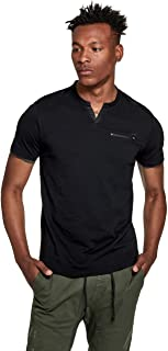 GUESS Factory Men's Ford Slit-Neck Tee