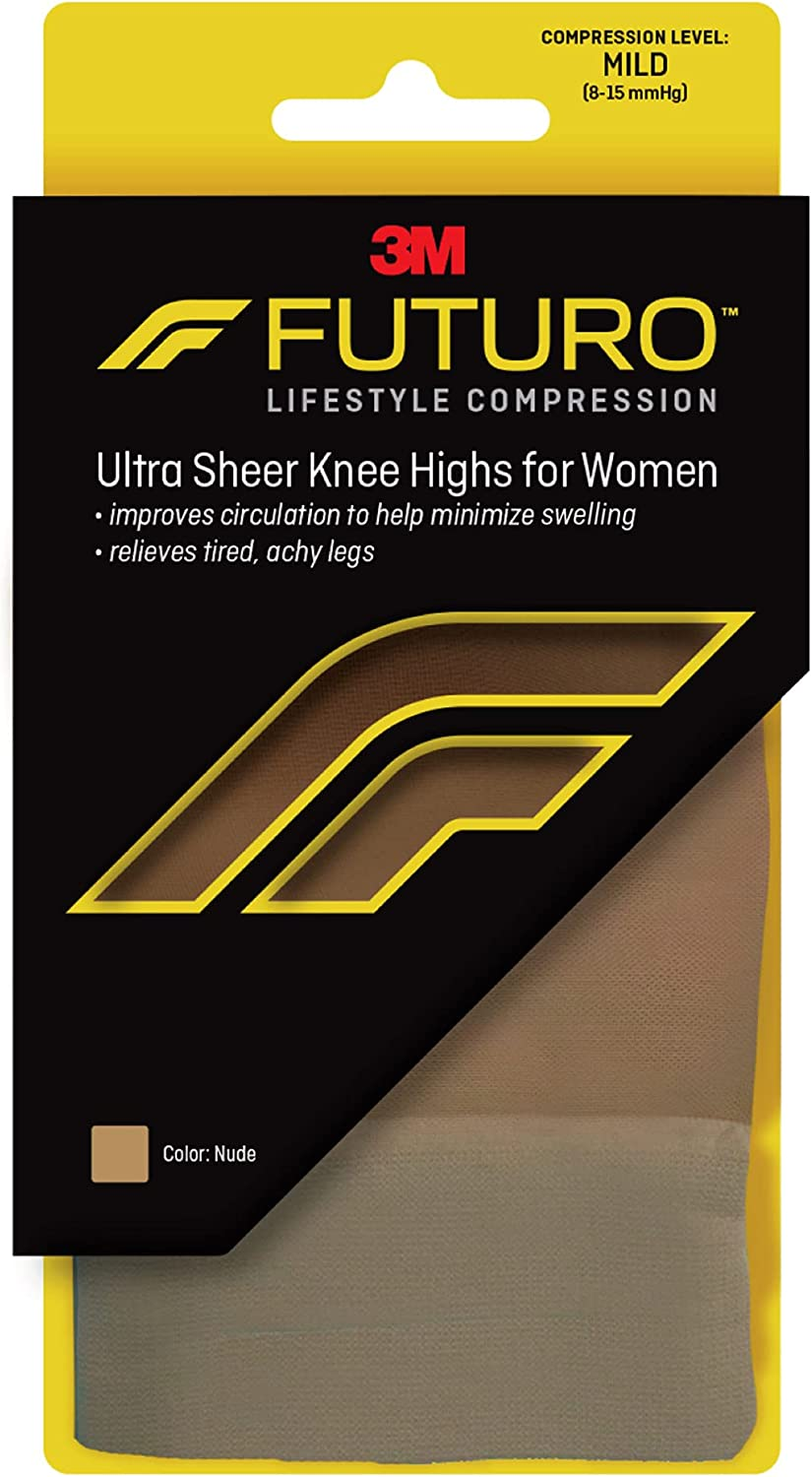 FUTURO Energizing Ultra Sheer Knee Highs Pair New products, world's highest quality popular! Ranking TOP6 1 Mild Medium Nude
