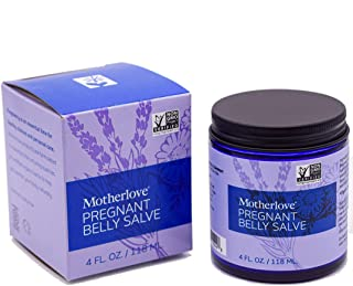 Motherlove Pregnant Belly Salve (4oz) Help Prevent Stretch Marks During Pregnancy & Soothe the Itch of Growing Skin—Moistu...
