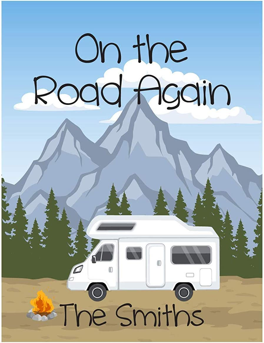 Personalized Camping Flag, Garden Or House Flag, On The Road Again, Class C Motorhome, 12