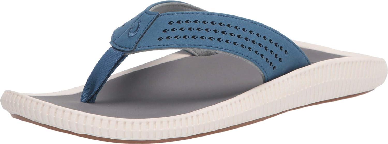 OluKai Attention brand Ulele Men's 2021 model Beach Sandals Flip-Flop Slides Wa Quick-Dry