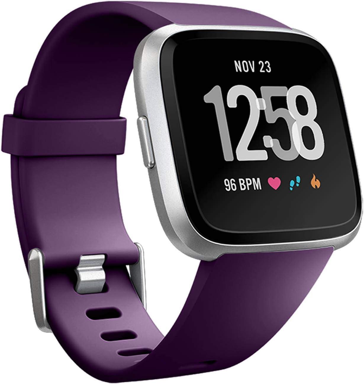 Malla De Reloj Fitbit Versa Y Versa Lite, violeta, talle L