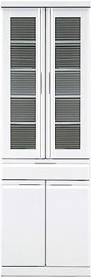 関家具(Sekikagu) 食器棚 ホワイト 幅59.2×奥行45×高さ180cm ダイニングボード ホワイト