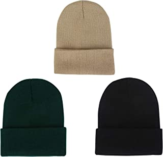 Sunm boutique Unisex Beanie Cap Knitted Warm Cold Weather Hats