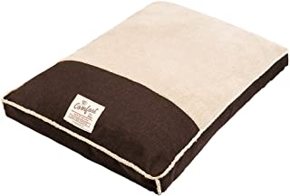 Happy Tails Faux Linen Gusseted Bed for Pets, 27 by 36-Inch, Chocolate Brown by Happy Tails