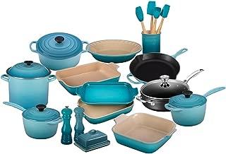 Le Creuset 23-Piece Complete Kitchen Set | Caribbean Blue