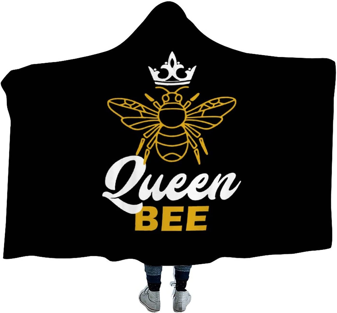 Cheap mail order sales Queen Bee Wearable Hooded Blanket Soft Watch Tv New Free Shipping Cloak Sofa B for