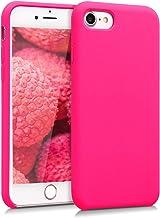 kwmobile Funda para Apple iPhone 7/8 - Carcasa de TPU para teléfono móvil - Cover Trasero en Rosa neón