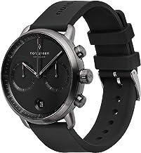 Nordgreen Pioneer Men's Chronograph Watch Black Dial Watch Gun Metal 42mm and Interchangeable Straps