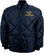 U.S. Navy Emblem Vietnam Veteran Game Sportswear Bravest Jacket