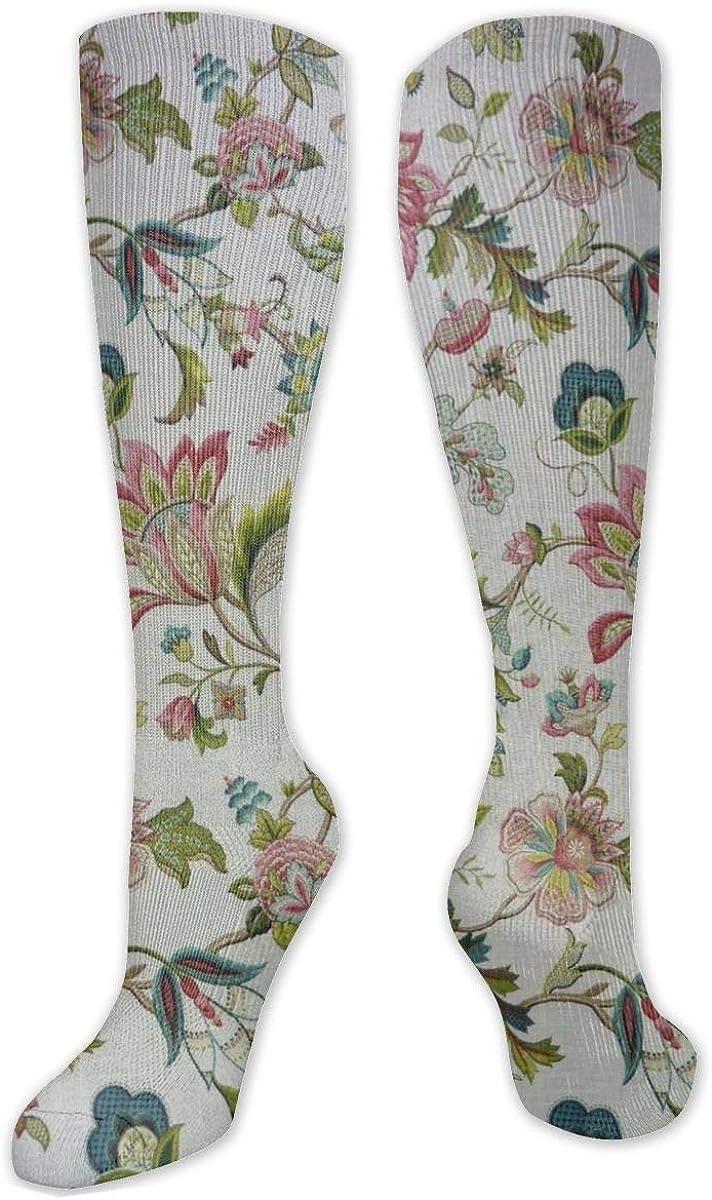 Gem Flower Knee High Socks Leg Warmer Dresses Long Boot Stockings For Womens Cosplay Daily Wear