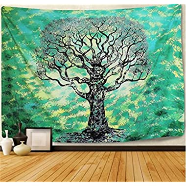 Tree Tapestry Wall Tapestry Wall Hanging Indian Tree of Life Hippie Tapestry Mandala Tapestry Bohemian Tapestry Indian Dorm Decor (59.1 ×82.7 , SG004)