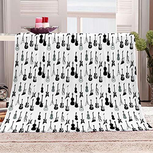 ZZFJFQ Mantas para Sofás de Franela Abstracto y Piano Manta Reversible de 100% Microfibre Extra Suave Transpirable 130x150cm