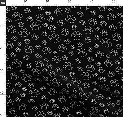 Katze Grau Pfoten Pingianer 7,98/€//m Katze 100/% Baumwolle 50x160cm Baumwollstoff Meterware Handwerken N/ähen Stoff