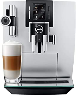 Jura 15150 J6 Coffee Machine, Brilliant Silver with Aroma Grinder, Pulse Extraction Process and TFT Display and Smartphone Compatibility (Renewed)