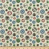 Marvel 0661012 Avengers Hero Symbols in Multi Fabric Stoff,