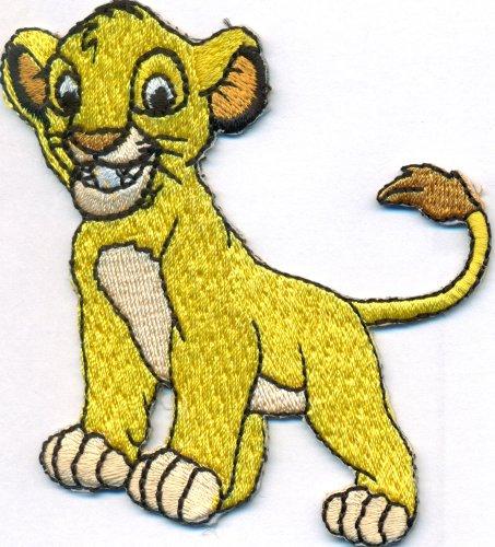 Patches Aufnäher Simba König der Löwen DIY Flicken Lion Bügelbild Aufbügler Abzeichen zum aufbügeln Aufkleber Applikation Schultasche DVD Tasche Kinderbekleidung Iron on Patch 80x80mm