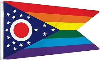 NEOPlex 3' x 5' Ohio Rainbow Pride Flag