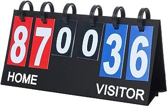 Upstreet Scoreboard Score Keeper - Portable Flipper Flips up to 99