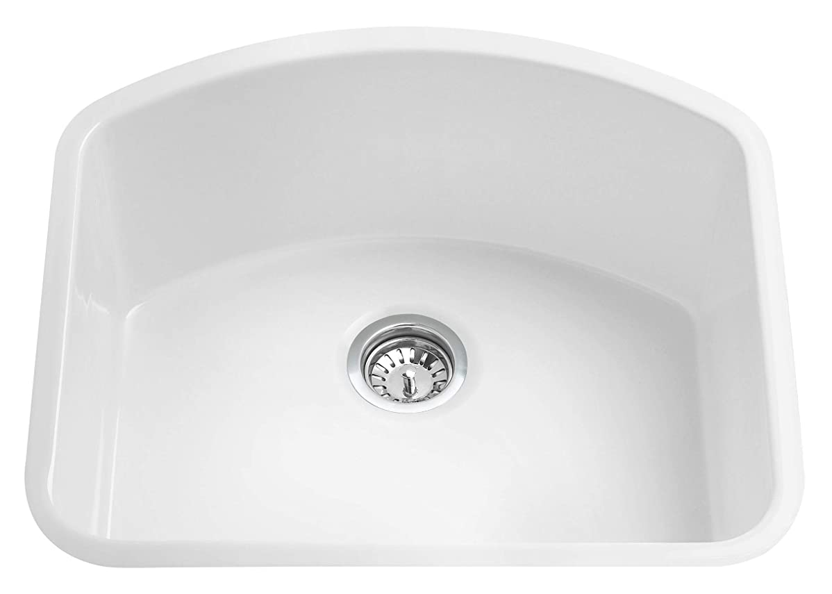 責任解決シンプルなALFIブランドAB2417C キッチンシンク ホワイト