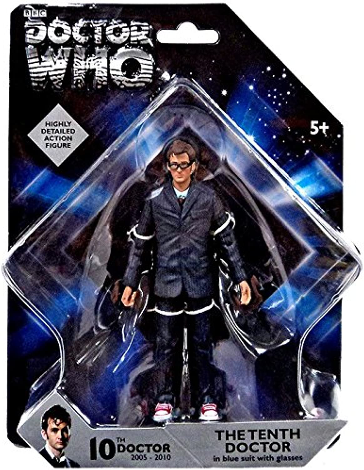 Doctor Who Highly Detailed 10th Doctor in bluee bluee bluee Suit 5 Action Figure d4ae07