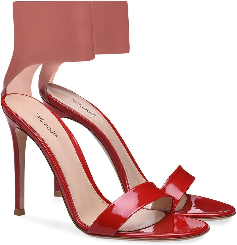 Kvinnliga skor PVC sommar Comfort Sandals Sandals Sandals gående skor Stiletto Heel Peent Heel Point Heel bröllop  Party & Evening  Dress Formal Business Work bröllop (Färg  A, Storlek  37)  upp till 60% rabatt
