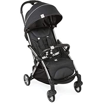 Chicco Goody Stroller Graphite for Newborn Babies and Toddlers, Auto Fold Mechanism, Premium Design, 0m+, Pram for Boys and Girls (Black)