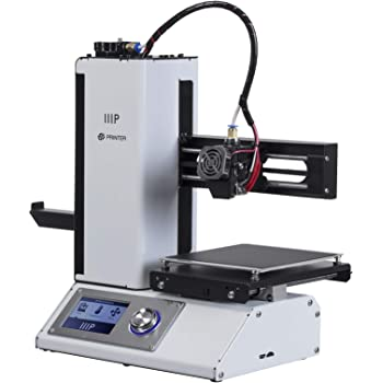 Monoprice - 15365 Select Mini 3D Printer v2 - White With Heated (120 x 120 x 120 mm) Build Plate, Fully Assembled + Free Sample PLA Filament And MicroSD Card Preloaded With Printable 3D Models