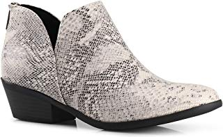 Women's Madeline Western Almond Round Toe Slip on Bootie...