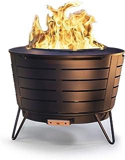 گودال آتش دود کم فولاد ضد زنگ مارک TIKI 25 اینچ - شامل بسته چوب و روکش پارچه رایگان !!