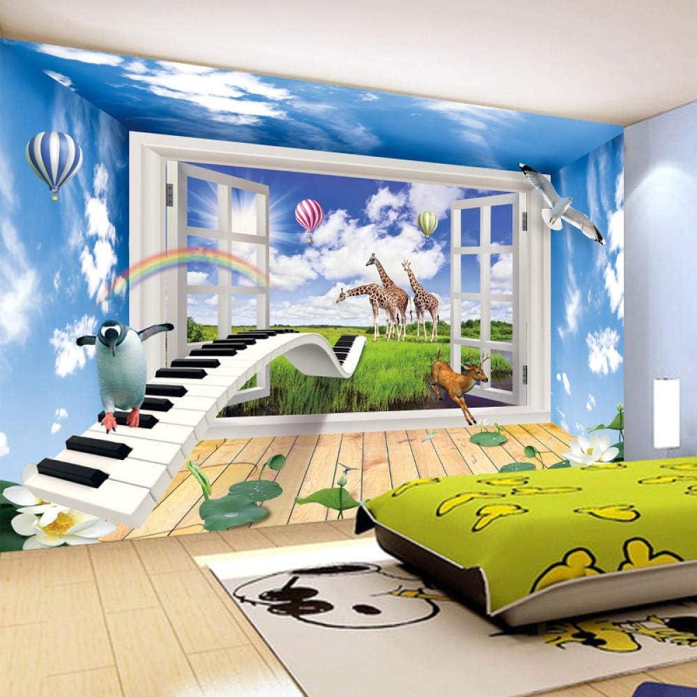 Effect Ranking TOP9 Window Scenery Creative Children 25% OFF Mural Wall 3D Room Decor
