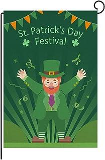 AKDsteel St Patrick Day Garden Flag for Home Garden Decoration St Patrick Day Garden Flag Irish Green Shamrock Garden Flag...