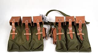 Replica WW2 German MP44 STG 44 Ammo Mag Pouch Canvans&Leather Green