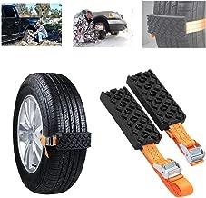 Ai CAR FUN Car Snow Chains, Emergency Anti Slip Snow Tire Chains for Most Cars/SUV/Trucks,Winter Universal Security Chains Tire Width 6.5-10.43'',100% TPU (Orange-2PCS)