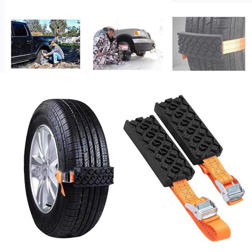 Car Snow Chain 8pcs//Set Car Snow Chains Universal Car Tire Belt TPU Anti-slip Chain Car Tire Emergency Anti Skid Straps