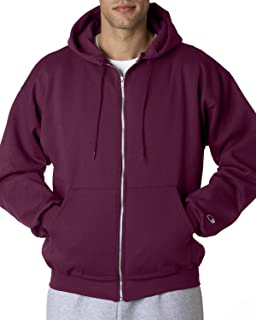 Double Dry Action Fleece Full Zip Hood S800, M, Maroon