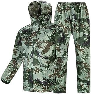 Qivor Waterproof clothing Raincoat Rain Pants Suit Fashion Camouflage Outdoor Waterproof Split Raincoat Unisex, Suitable F...