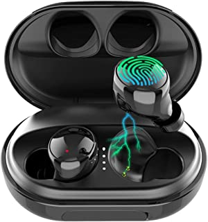 Wireless Earbuds Bluetooth 5.0 Headphones, 120H Playtime Deep Bass Stereo Sound Earbuds with Microphone, IPX8 Waterproof H...