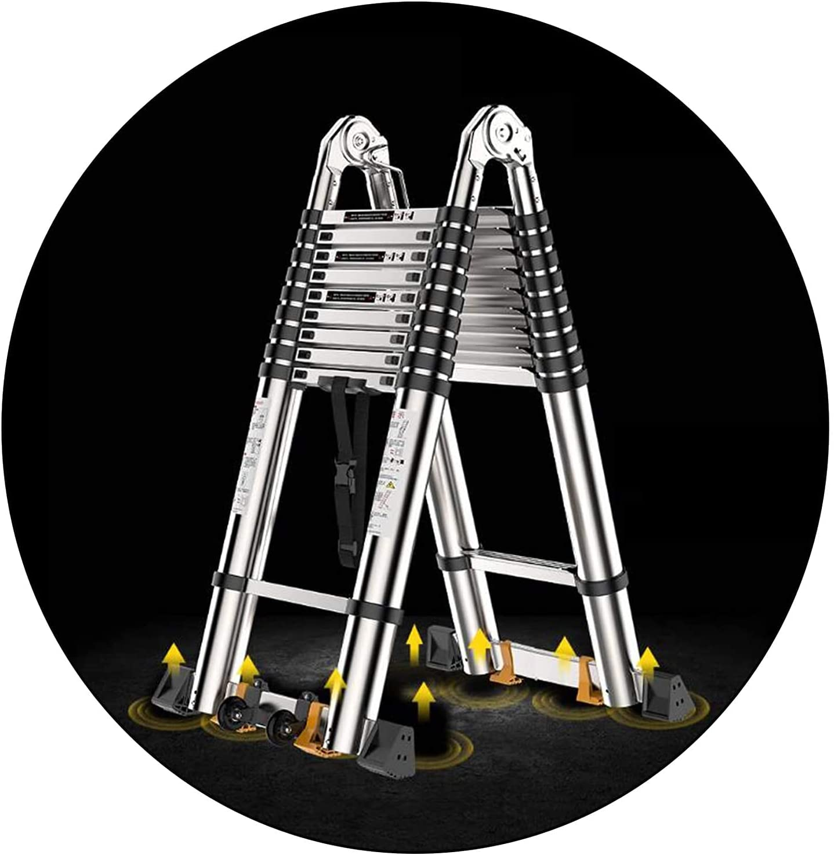 Aluminum Brand new Telescopic Ladder Multi-Purpose Heavy Duty Today's only Portable - E