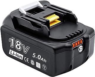 Akkopower マキタ 18V バッテリー ライト付き残量表示でき BL1850B 互換バッテリー 5000mAh 大容量 PSE認証済 電動工具用バッテリー BL1830 BL1840 BL1850 対応 …