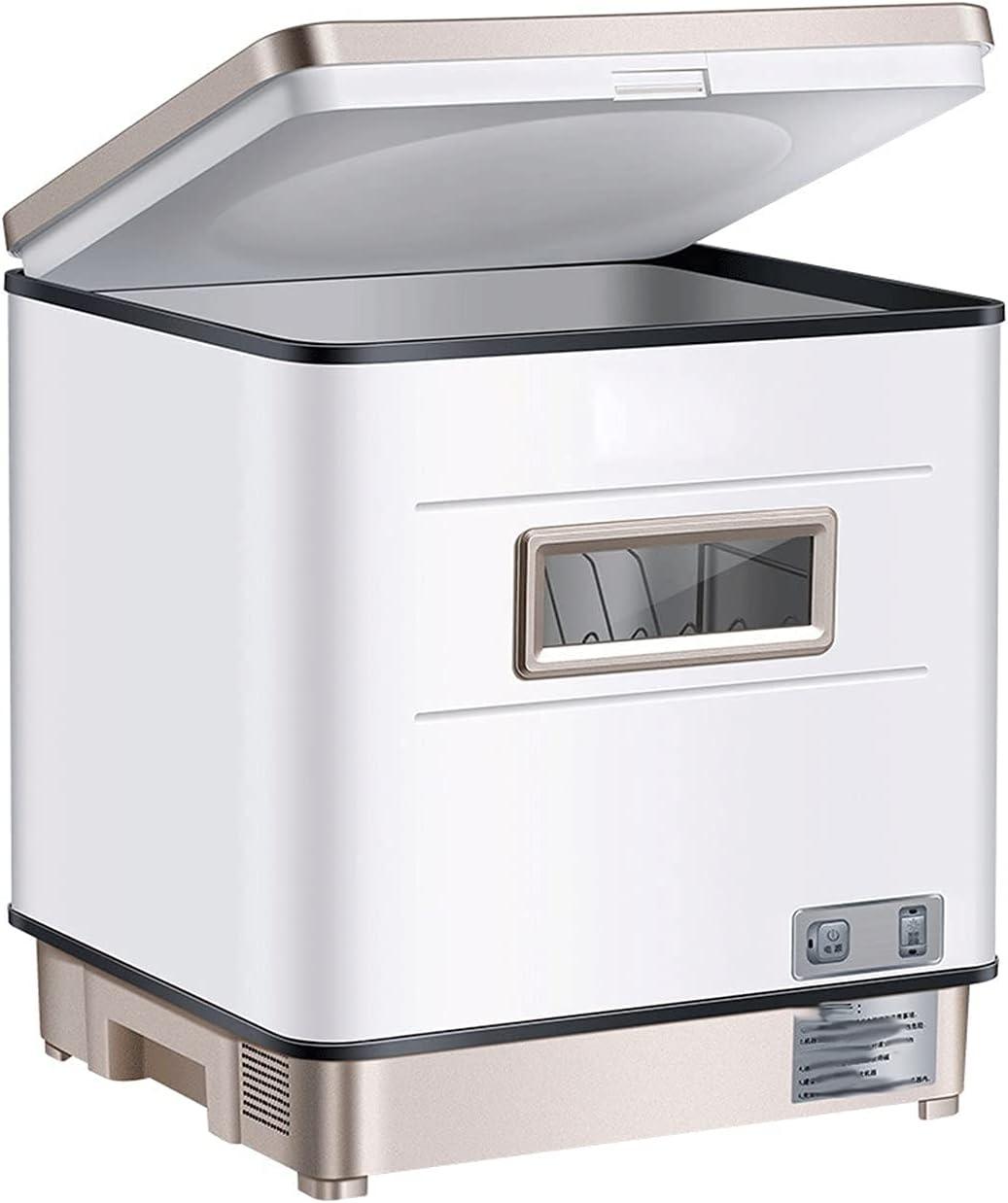 MOSHUO Lavavajillas, lavavajillas Compacto de encimera, 5 programas de Lavado, lavavajillas de encimera portátil para Oficina de apartamento y Cocina doméstica