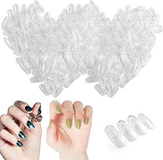Kalolary 200 stks Oefen valse nagel tips, Verstelbare kunstnageltips voor nageltraining, Nepnagels voor modelhanden zijn g...