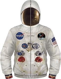 SummerSeed Moletom com capuz da NASA para crianças, adolescentes meninos e meninas com estampa 3D