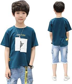 セットアップ 男の子 子供服 2点 Tシャツ デニムパンツ 半袖Tシャツ 半ズボン 男の子 ボーイズ 夏服 上下セット