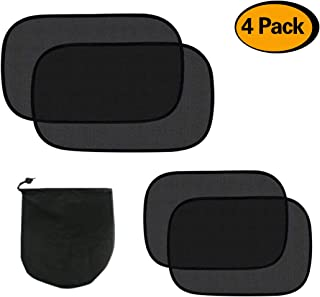 """Heat /& UV Ray Protection for Child /& Baby Life-TIME Warranty Capparis Premium Car Window Shade Glare 3 Pack Extra Large 20/""""x12/"""" Cling Sunshade for Car Side Windows 80 GSM for Max Sun"""